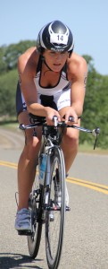 Julia Grant racing the Wildflower Long Course in 2012