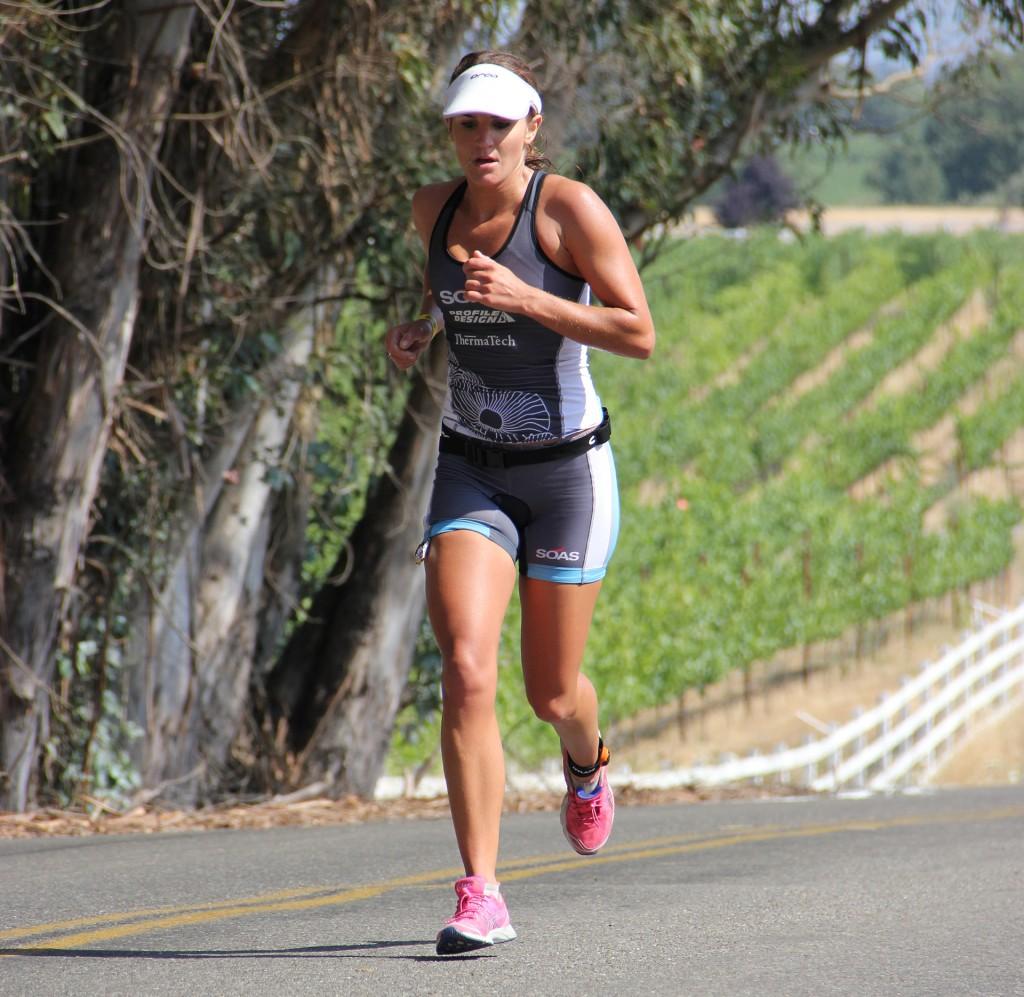 Julia Grant racing the Vineman 70.3.