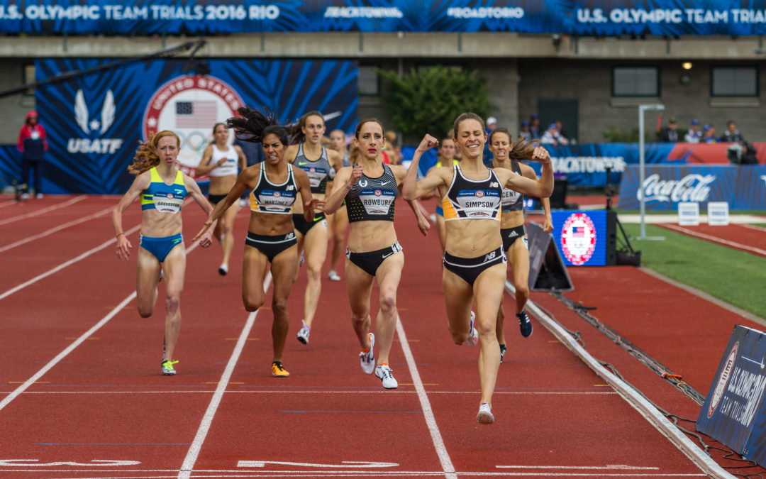©2016 Sean Dulany Olympic Trials 1500m Final Jenny Simpson Shannon Rowbury