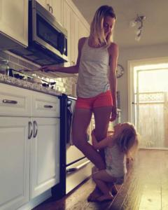 Sarah Mac Robinson Cooking with Daughter Penelope